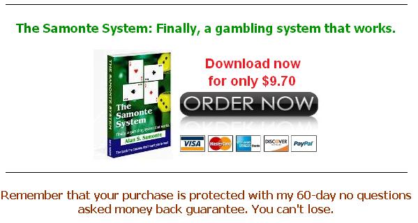 The samonte gambling system casino hard hollywood rock